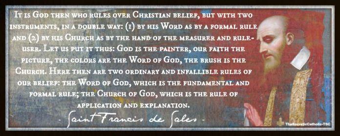 Saint Francis de Sales Rule of Faith