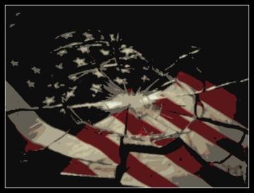 American Flag Glass