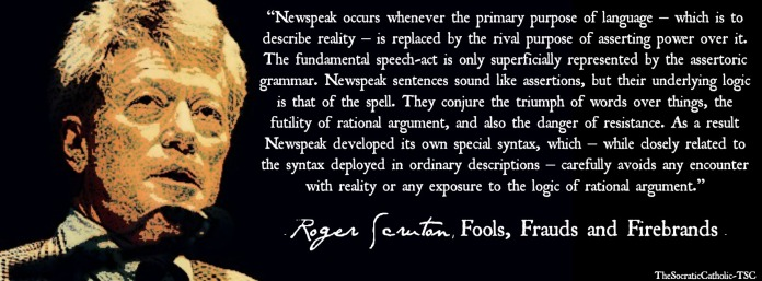 Roger Scruton on the Left & Language