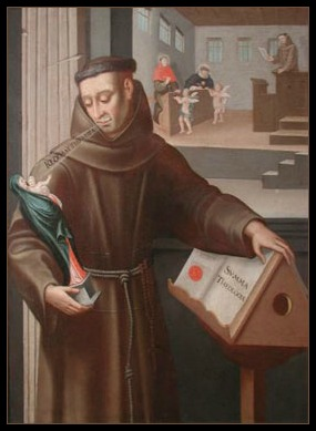 Blessed John Duns Scotus Turning From the Summa