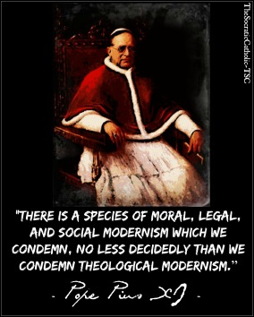 Pope Pius XI on Social Modernism