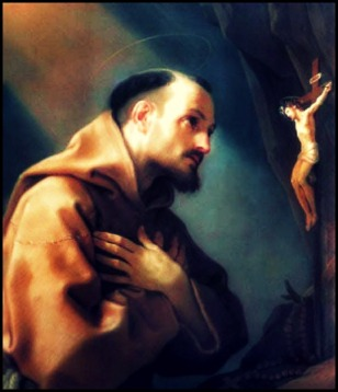 Saint Bonaventure Praying