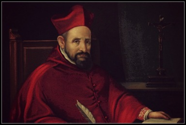 Saint Robert Bellarmine & Crucifix