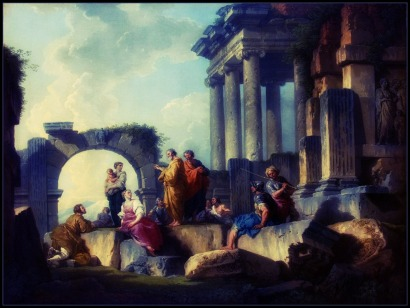 The Apostle Paul Preaching on the Ruins