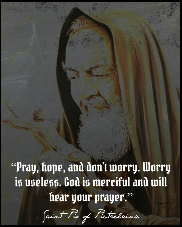 Saint Padre Pio With Crucifix